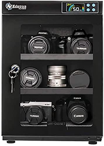 Caja electrónica a prueba de humedad 40l Gabinete de secado completamente automático para cámara y caja de almacenamiento de deshumidificación de la lente - Negro