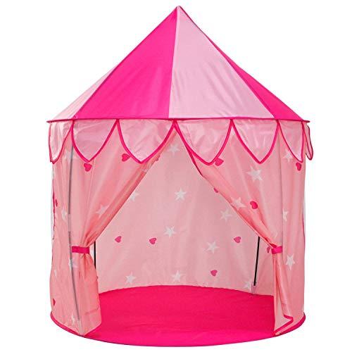 Yoobe 5pc Princess Tent for Girls Play Tent Princess Castle - Bonus Princess Dress up Tutu Costume set!