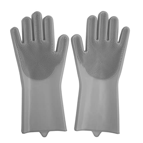Anzoee Silicone Rubber Scrubbing Gloves For Dishwashing