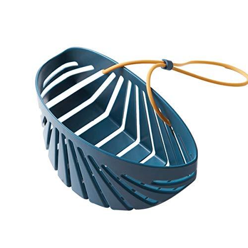 FREELX 2 Pcs Esponja de Almacenamiento Cocina Organizador para Fregadero, Almacenamiento Antideslizante De Grifo, Estante De Drenaje, Hogar Cestas Colgantes Estante Escurridor,Azul