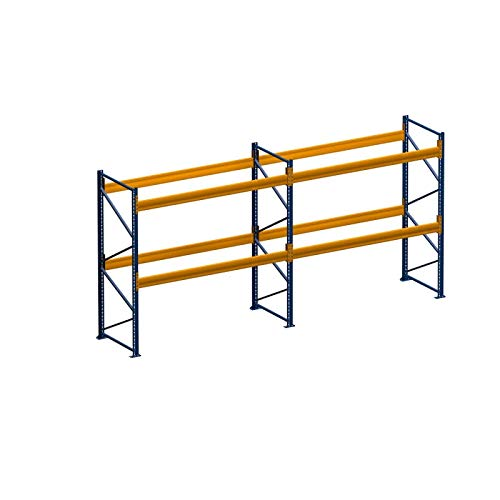 Palettenregal Schwerlastregal 5,60 m x 2.50 m (LxH) - 2 Feld/er Fachlast 2050 kg mit 18 Stellplätze