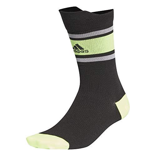 adidas Ask SPORTBLOCK Socks, Unisex Adulto, Black/Signal Green/Black, XS