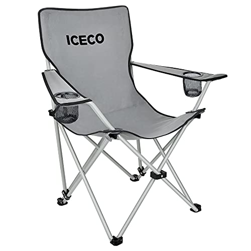 ICECO Camping Chair for Adults, Ultralight Compact Folded Camp Chairs Portable with Carrying Bag Cup...