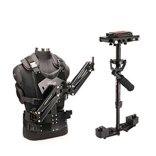 Stabilisateur HD-3000 pour appareil photo reflex mono-objectif numérique et caméra - Avec double-bras articulé Galaxy et gilet stabilisateur | Livré avec accessoires