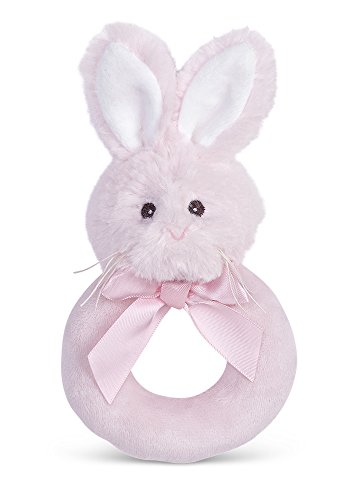 Review Of Bearington Baby Lil' Bunny Pink Plush Stuffed Animal Soft Ring Rattle, 5.5