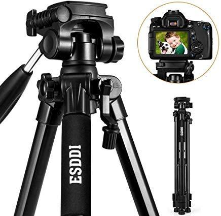 Camera Tripod ESDDI 67'' /170cm Compact Aluminum Lightweight Tripod Compatible for DSLR SLR Canon Nikon Sony Olympus DV with Carry Bag