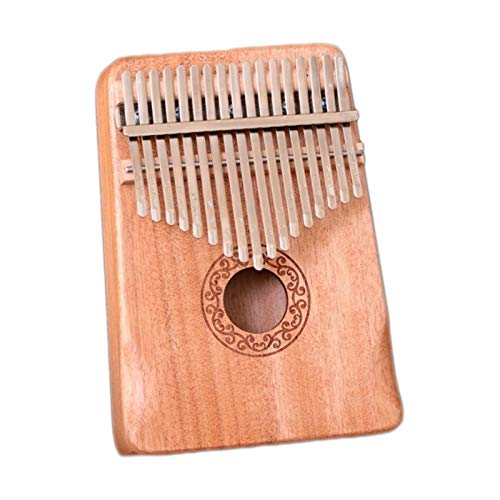 Kalimba, Daumenklavier 17 Keys Kalimba Daumenklavier Made By Single Board Praktisches Holz Mahagoni Korpus Musikinstrument for Anfänger (Color : Wood color)