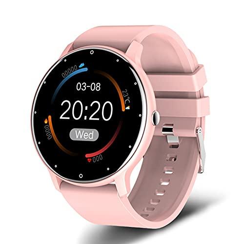 ACY Reloj inteligente de moda para mujer y hombre, ejercicio de ritmo cardíaco, presión arterial, rastreador de fitness impermeable para iOS Android, D