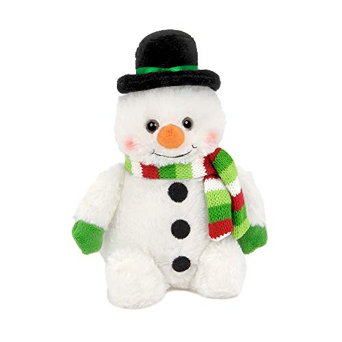 Bearington Snowball Plush Stuffed Animal Snowman, 6 inches