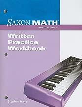Saxon Math Intermediate 4: Written Practice Workbook
