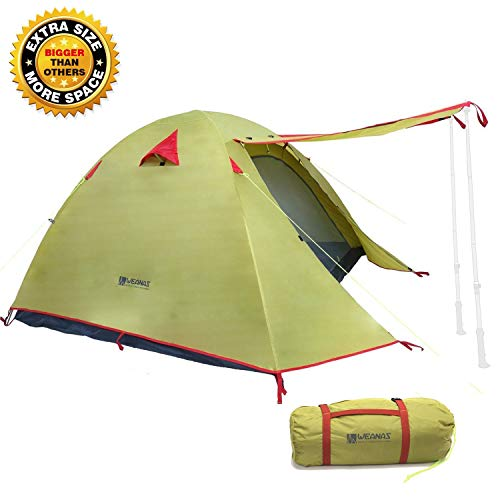 Weanas Professional Backpacking Tent 2 3 4 Person 3 Season Weatherproof Double...