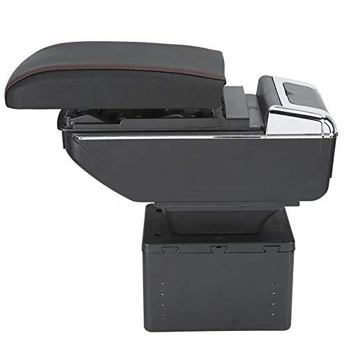 SANON Contenitore Scatola Bracciolo Console Centrale Auto Universale Regolabile con Interfaccia Usb