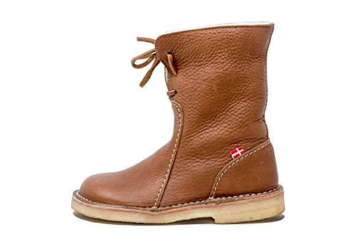 Duckfeet Arhus Unisex Wool-Lined Pebbled Leather Boot(Nut,45 M EU)