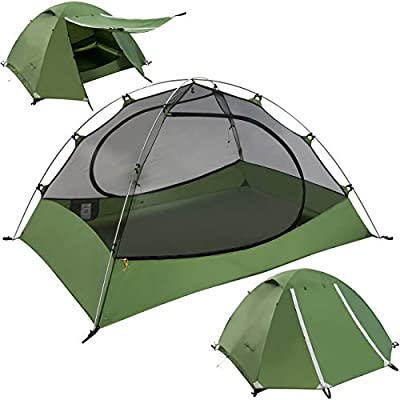 Clostnature Lightweight 3-Person Backpacking Tent - 3 Season Ultralight Waterproof Camping Tent, Large Size Easy Setup Tent for Family Outdoor, Hiking, Mountaineering