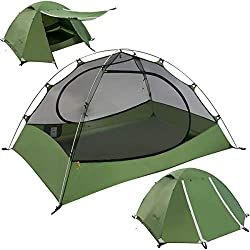 Clostnature Lightweight 2-Person Backpacking Tent - 3 Season Ultralight Waterproof Camping Tent, Large Size Easy Setup Tent for Family, Outdoor, Hiking and Mountaineering…