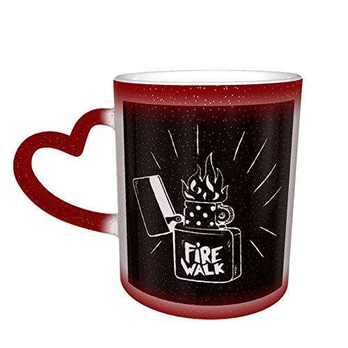 DJNGN Chloe Fire Walk Life Is Strange Taza que cambia de color en el cielo Taza de cerámica Taza de café Regalo de cumpleaños de Navidad
