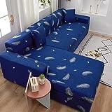 Funda de sofá elástica de Color sólido Spandex Moderno poliéster Esquina sofá sofá Funda Protectora para Silla Sala de Estar A12 2 plazas