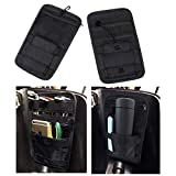 AUFER Vehicle Motorcycle Bike Universal Internal Saddlebags Small Tools Organizer Bags Hard Bags Storage Pouch Compatible for VRSC Softail Touring Sportster Dyna Indian Yamaha Kawasaki,Black