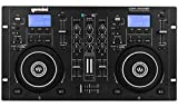 Gemini Sound CDM-4000BT Stand Alone Bluetooth Streaming Professional DJ Dual Deck Media Player Mixer CD/CDR USB Playback 2 Band Equalizer Manual Looping Sensitive Jog Wheels, XLR Output, Anti-Shock