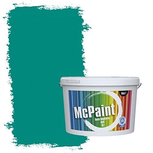 McPaint Bunte Wandfarbe Opal - 10 Liter - Weitere Blaue Farbtöne Erhältlich - Weitere Größen Verfügbar