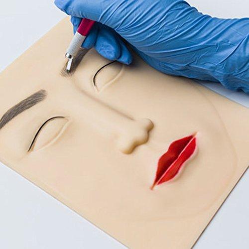 10 compresse Pelle per il tatuaggio del viso pratica 20 * 15CM per sopracciglia Labbra Eyeliner