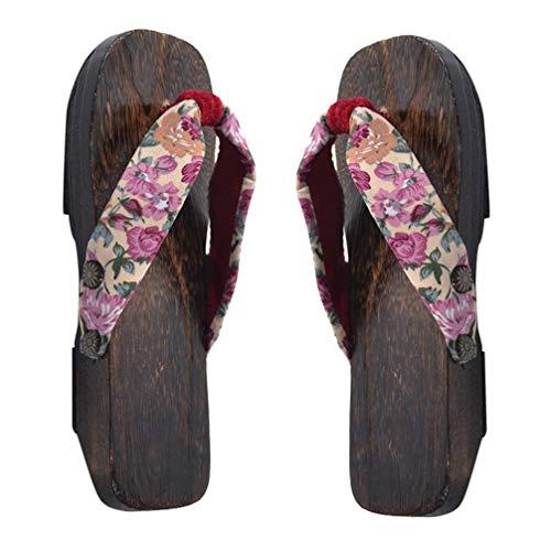 SUPVOX niños japoneses Zuecos de Madera Sandalias Accesorios Kimono Zapatos 20/30