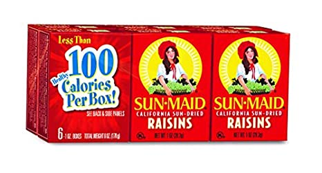 Sun-Maid Raisins (6 Count, 1 Oz Each)