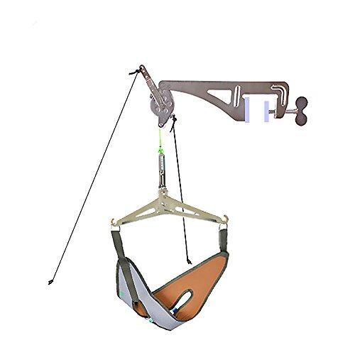 Genmine – Nackenstrecker, überliegendes Zervikal-Traktionskit, Nackenmassagegerät für Chiropraktik, Rücken- und Kopf-Massagegerät, Entspannung
