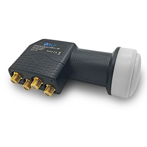 UHD Quad LNB ARLI Sat Digital 4K 0,1 dB Ultra HD direkt Anschluss 4 Fach Teilnehmer vergoldet kontakte ausziehbare Wetterschutz Universal Lmb Anlage Satelliten Quattro Switch High Band Gain Qualität