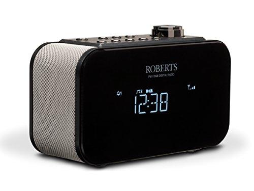 Roberts - Radio Ortus 2, FM/DAB+, sveglia da comodino, colore: Nero