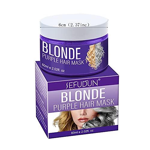 Silber Shampoo - Anti-Gelbstich Purple Shampoo für blonde, blondierte, gesträhnte und graue Haar - Graufärben die Farbe fixieren,Entfärbtes silbernes Haarfärbemittel...
