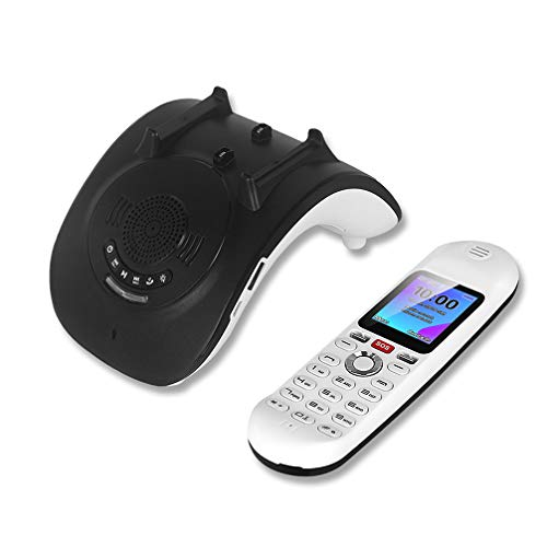 TeléFono Fijo TeléFono Fijo InaláMbrico Trono De Carga De Audio Bluetooth con TeléFono MóVil Creativo De Cuatro Bandas con Personalidad Multifuncional Tres En Uno