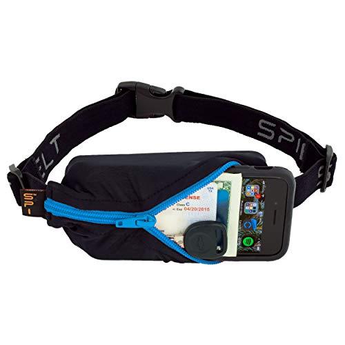 SPIbelt Running Belt Original Pocket, No-Bounce Waist Bag for Runners, Athletes Men and Women, fits Smartphones iPhone 6 7 8 X, Workout Fanny Pack, Expandable Sport Pouch, Adjustable Turquoise Zipper