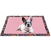 大型犬のペットの家柔らかいクッション犬小屋のための通気性の印刷マット犬用ソファ猫の睡眠マット両面が使用可能なペットの犬のベッド (Size : M)