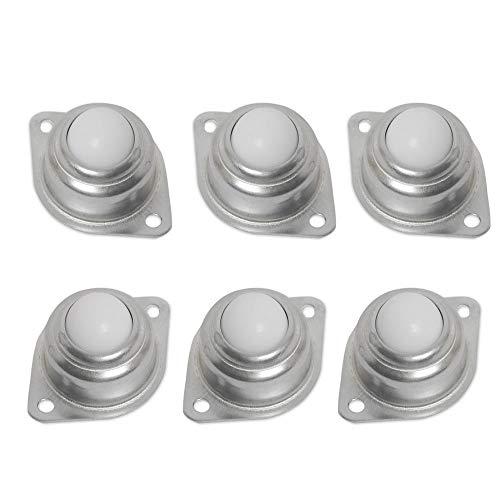 Ruedas de repuesto para muebles Bolas De Rodamiento De Rodillos De Nailon, redondas, con tornillo de brida de metal(12.5mm)