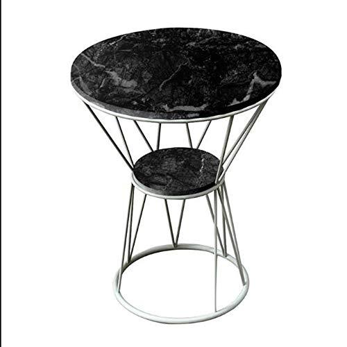 Tables HAIZHEN Pliable d'appoint, Basse en marbre, Balcon Mobile avec canapé, Petite Basse (Couleur : C)