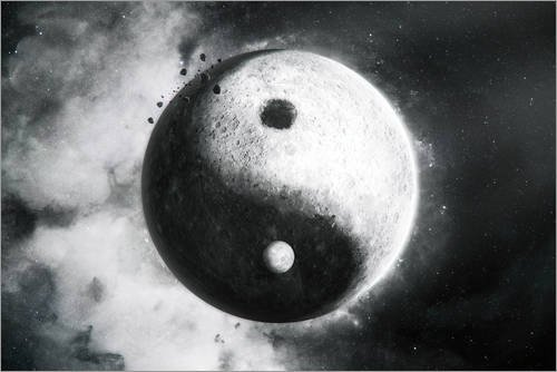 Posterlounge Lienzo 30 x 20 cm: Yin Yang de Tobias Roetsch - Cuadro Terminado, Cuadro sobre Bastidor, lámina terminada sobre Lienzo auténtico, impresión en Lienzo