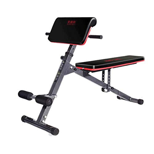 WJFXJQ Supine Board,Fitness Bench Supine Board Training Chair Fitness Bench Load Supine Board,Bearing Strong Multi-Function Bench Press Bench,red