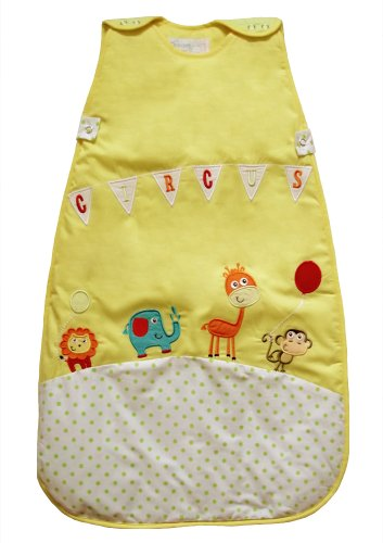 The Dream Bag CR02 Circus Unisex Baumwolle Baby Schlafsack 0-6 Monate, 2.5 Tog, 70 cm, gelb