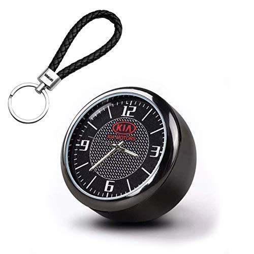 Runde Auto Uhr, Armaturenbrett Uhr, Hohe Genauigkeit Quartz Luminous Dial, perfekte Auto-Dekoration für Motorrad, Auto, SUV und MPV (K-ia)