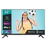 Hisense 32AE5500F - Smart TV Resolución HD, Natural Color Enhancer, Dolby Audio, Vidaa U 2.5, HDMI, USB, Salida auriculares