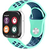 ZSMJ Replacement Kids Band for Gizmo Watch, 20mm Breathable Soft Sport Band Compatible with Verizon Gizmo Watch 2 / Gizmo Watch 1 (Light Blue Dark Blue)