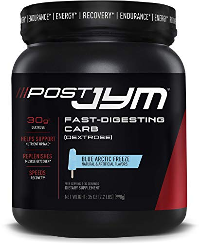 JYM Supplement Science Post JYM Fast-Digesting Carb - Post-Workout, 30 Servings, Blue Arctic Freeze, 2.2 Pound