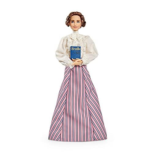 Barbie Signature Colección 'Mujeres que inspiran' Hellen Keller, muñeca de colección (Mattel GTJ78)