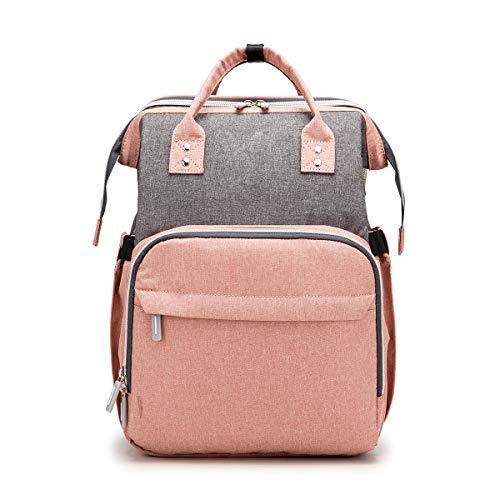 Bolsa de pañales 3 en 1 Cama de bebé plegable de viaje, cambiador de mochila de pañales