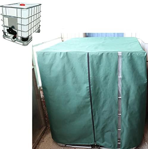 XTHY Wassertank Abdeckplane ,IBC 1000L Tank Abdeckung,IBC Container Cover, Schutzhülle Schutzhaube Schutzplane ,Keine Öffnung an der verdickten oberen Abdeckung