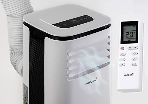 Korona 82001 Iceberg 9.0 Eco Korona - Climatizzatore locale mobile | stanze fino a 34 mq | Radiatore e deumidificatore | 9.000 BTU/h | [Classe energetica A] | Dispositivo 3 in 1