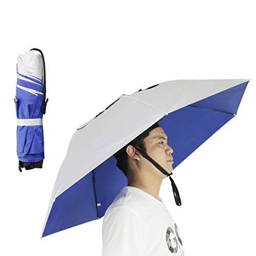 NEW-Vi Fishing Umbrella Hat Folding Sun Rain Cap Adjustable Multifunction Outdoor Headwear