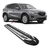 OMAC Faldones laterales compatibles con Mazda CX-5 | Soportes de aluminio anodizado para coche, faldones laterales, accesorios de decoración