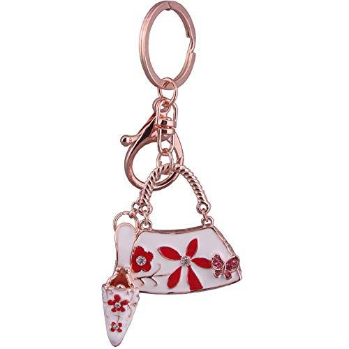 PLUS PO Llavero de metal llavero para regalo Charm para bolso llavero con diamante rojo llavero personalizado elegante llavero rojo llavero rojo llavero elegante llavero rojo